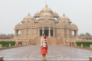 British Secretary of State for International Development The Rt Hon Priti Patel MP Visits Swaminarayan Akshardham in New Delhi