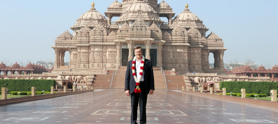Toronto Mayar John Tory at Swaminarayan Akshardham, New Delhi