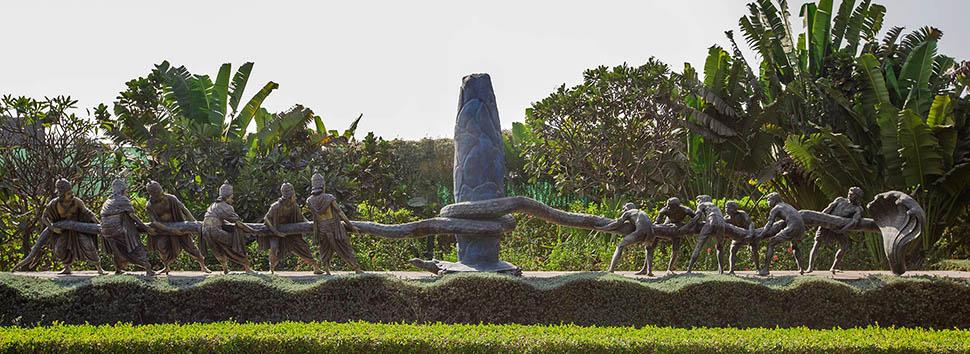 Swaminarayan Akshardham, Gujarat: Garden - Samudra Manthan