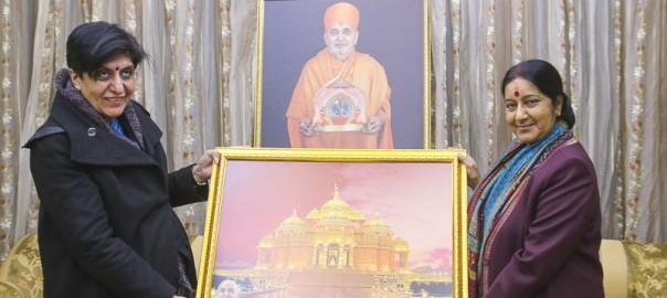 005_BAPS_Akshardham_Sushma_Swaraj_visit_07f