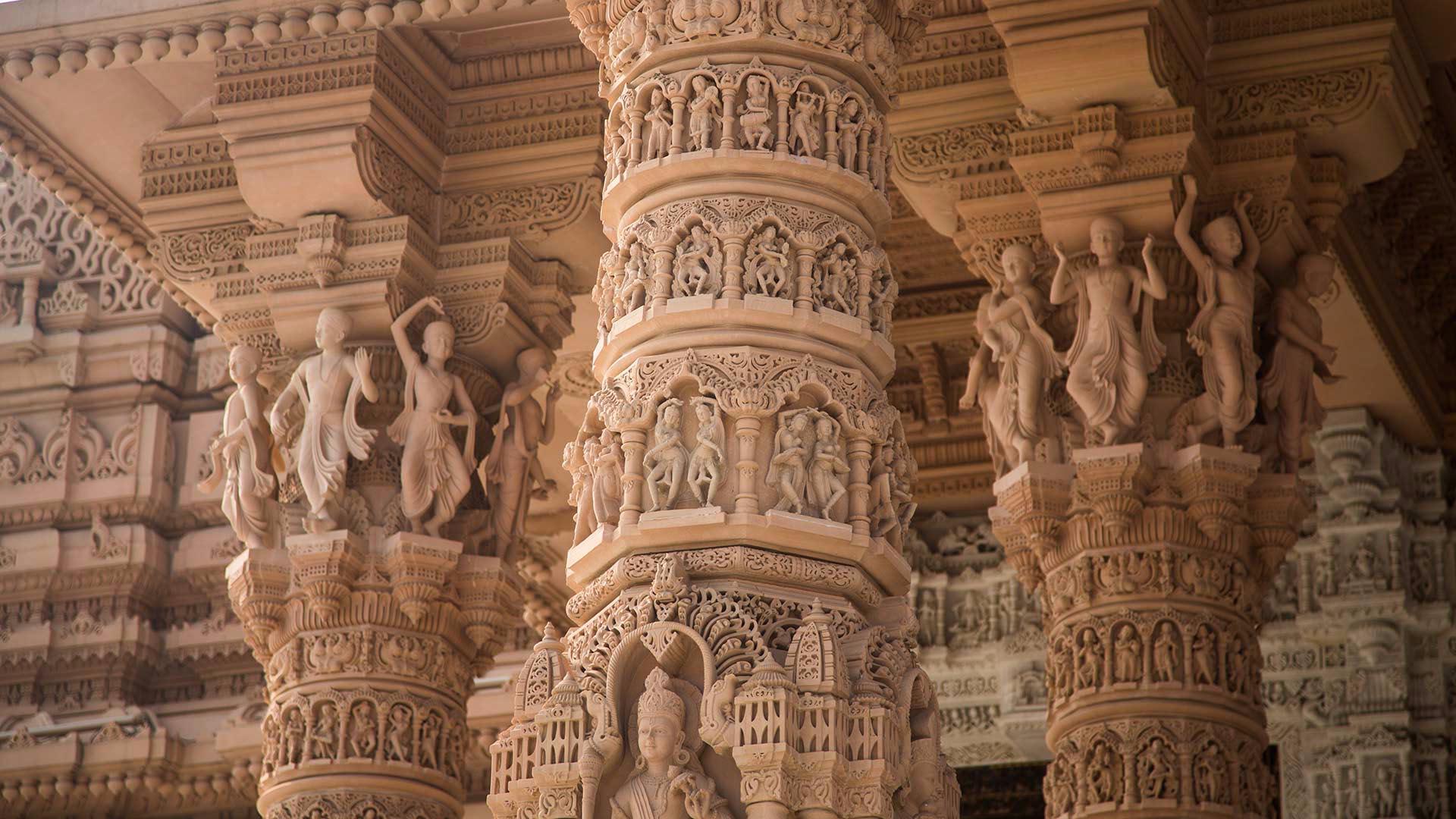 Carvings swaminarayan akshardham new delhi