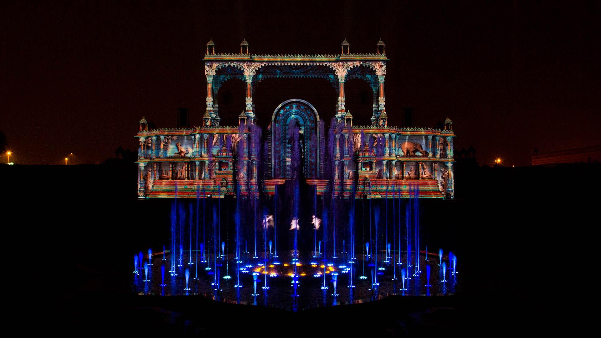 Image result for laser water show akshardham