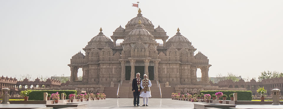 BAPS Akshardham PM India and Australia visit - banner image