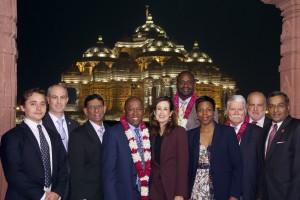 Houston Mayor Sylvester Turner and delegation visits Swaminarayan Akshardham, New Delhi