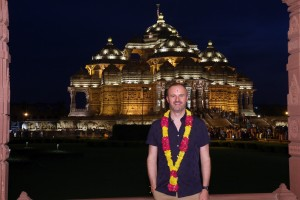 Chief Minister of the Australian Capital Territory Andrew Barr visited Swaminarayan Akshardham in New Delhi